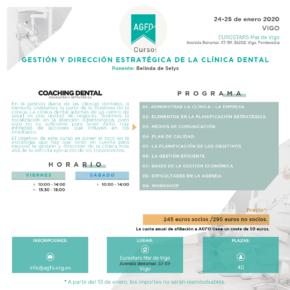 CURSO GESTIÓN Y DIRECCIÓN ESTRATÉGICA DE LA CLÍNICA DENTAL. 6 Y 7 DE MARZO DE 2020