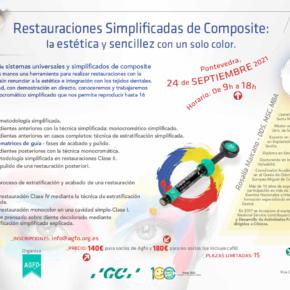 CURSO RESTAURACIONES SIMPLIFICADAS DE COMPOSITE: LA ESTÉTICA Y SENCILLEZ CON UN SOLO COLOR. 24 DE SEPTIEMBRE DE 2021.