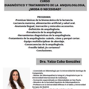 Curso Diagnóstico y tratamiento de la anquiloglosia, ¿moda o necesidad?. 16 DE OCTUBRE DE 2021